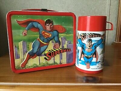 Vintage Superman Lunchbox And Thermos