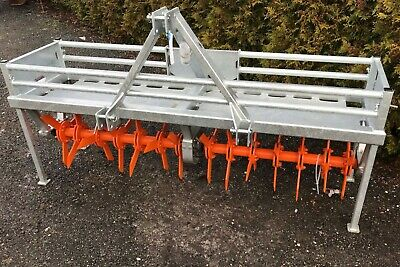 Aerator Ritchie Galvanised Grassland 2.5m spiker slitter tractor mounted turf