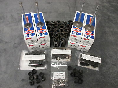 Chevy 350 ValveTrain Kit 1.6/1.94 STAINLESS valves springs keepers seals studs