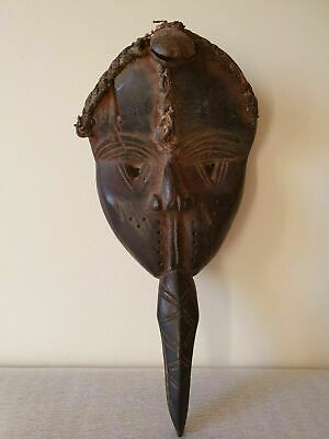 Old Dan Maou African Wood Carved Mask - African Wooden Mask Carving