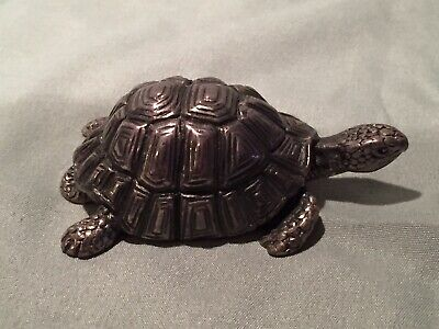 Sterling Silver Turtle Paperweight ~  Absolutely Beautiful! 57 Grams +/- A Gram