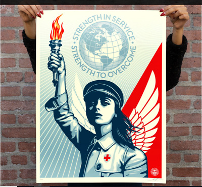 OBEY Shepard Fairey ANGEL OF HOPE AND STRENGTH Print Edition of 550