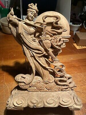Hand Carved Asian Wooden Statue