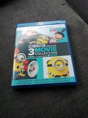 Despicable Me 3-Movie Collection (Blu-ray/DVD, 2016, 6-Disc Set)
