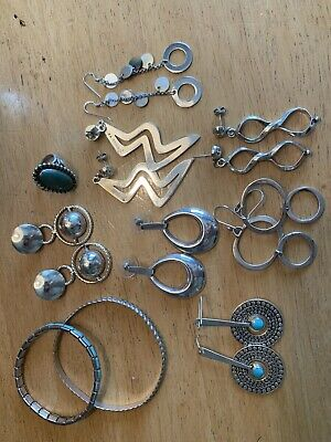 vintage 925 sterling silver jewelry lot