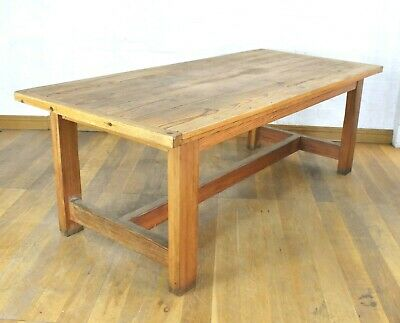Large 8 seater pine dining table - rustic farmhouse kitchen table
