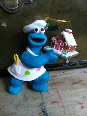 Vintage Vtg Cookie Monster Ornament Sesame Street Jim Henson Muppet Grolier 90s