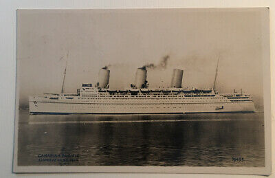 Canadian Pacific Lines Empress of Britain Real Photo Antique PC19435 Ca. 1930.