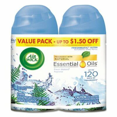 Air Wick Freshmatic Automatic Spray Refill, Fresh Waters, 6 Cans (RAC82093CT)