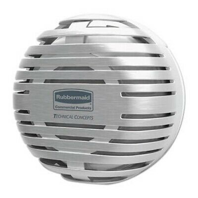 "Rubbermaid TCell Dispenser, 4.09"" Diameter x 2.36"", Brushed Chrome (RCP1972664)"