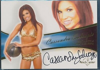 Cassandra Salvagio  ** 2012 Benchwarmer Bubble **  Autograph  **  Hot !
