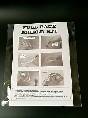 FULL FACE VISOR SHIELD HEAVY DUTY CLEAR and REUSABLE  WASHABLE