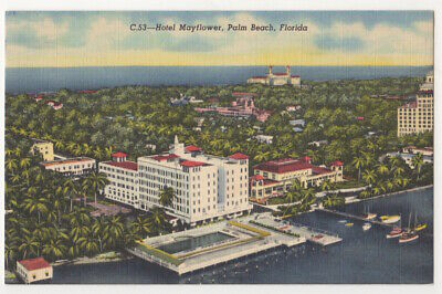 Palm Beach Florida c1940's Hotel Mayflower
