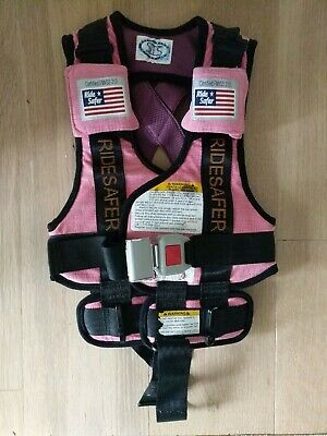"Ride Safer Travel Vest Small 30-60 lbs 34-52"" RideSafer Pink"