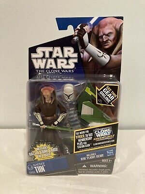 Rare Star Wars The Clone Wars Saesee Tiin Figure CW54 With Flight Gear MOC 2011