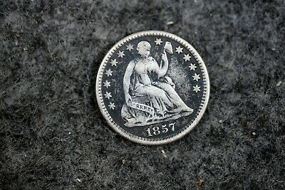 ESTATE FIND 1857 - (LOVE TOKEN )Seated Liberty Half Dime!!  #J11231