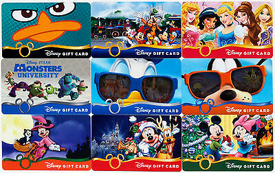All 9 Disney Gift Cards 2013: Princesses, Monsters Univ., Halloween, Christmas +