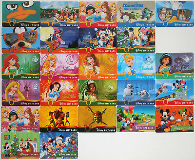 24 Disney Gift Cards 2013-2014: Princesses, Monsters Univ., Halloween, Christmas