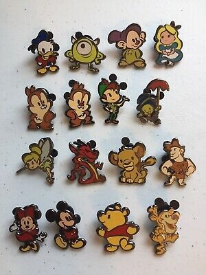 Disney Pins Cute Stylized Characters Mystery Pack 2016 Complete Set of 16 pins!!
