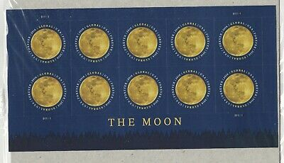 #5058 Global Forever International Postage The Moon Pane of 10 Forever