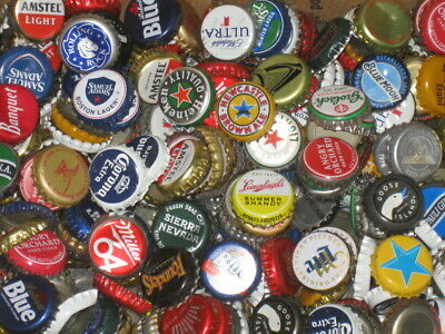 Mixed Lot 1000 Beer Bottle Caps 39 Different Styles with Dents Free Ship
