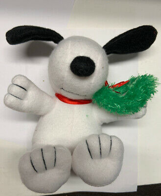 Plush Christmas Snoopy With Wreath
