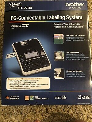 Brother P-touch PT-2730 Label Maker Labeling System in Box