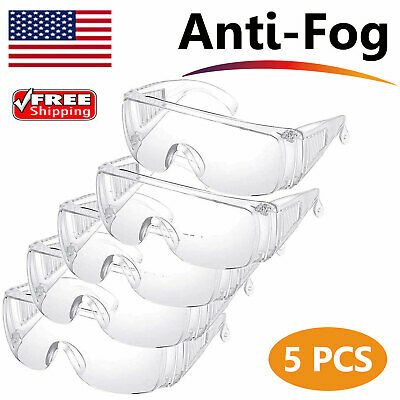 1-10 PCS Safety Goggles Over Glasses Eye Eyewear Clean Lens Protective Work Lab