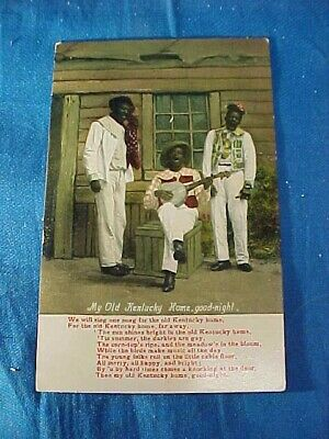 Early 20thc BLACK AMERICANA POSTCARD Image MY OLD KENTUCKY HOME