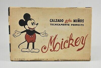 Vintage Mickey Mouse Spanish Shoe Box Circa 1940's