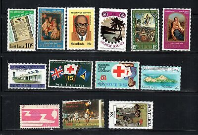 St Lucia Stamps     Mint  Hinged & Used    Lot 17109