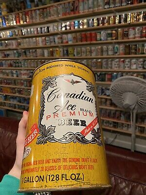 USBC 244-7 Gallon Canadian Ace Premium Brand Beer Can