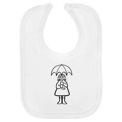 'Umbrella Girl' Baby Bib  (BI00019106)