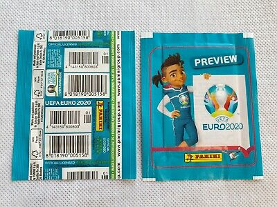 Panini - EURO 2020 UEFA Preview - Stickers 1 Tüten pochette Vertical CODE BAR