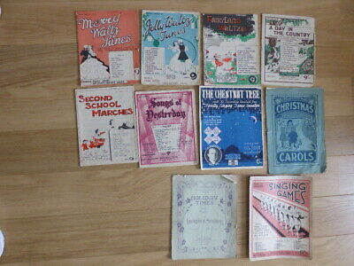 VINTAGE JOB LOT of SHEET MUSIC,BOOKS,MARCHES,WALTZ,CHRISTMAS,CHESTNUT TREE,SONGS