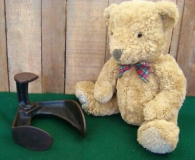 ANTIQUE Small Child's Cast Iron Cobblers Anvil Shoe Last Bookend Doorstop ~ RARE