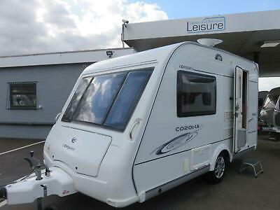 2008 Compass Corona Club 362, Compact 2 Berth Touring Caravan With End Kitchen..