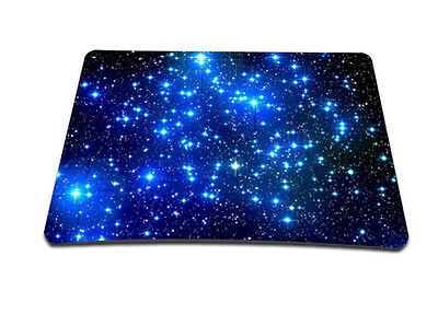 Blue Galaxy Anti-Slip Laptop PC Mice Pad Mousepad Mat For Optical Laser Mouse