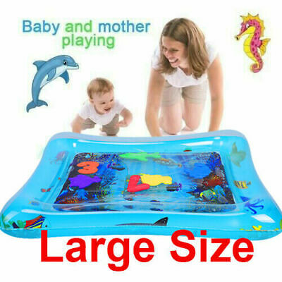 Inflatable Water Play Mat F Infants Baby Toddlers Kid Tummy Time Water Mat Large