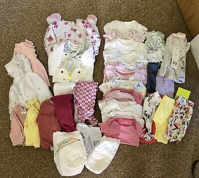 Baby Girls Big Bundle Up To 1 Month Old 35+ Items