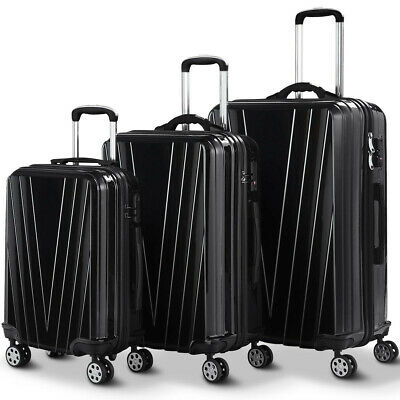 3 Pcs Luggage Set Travel Trolley Suitcase with TSA Lock