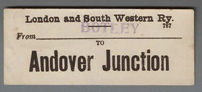 LONDON & SOUTH WESTERN RAILWAY LUGGAGE LABEL - ANDOVER JUNCTION from Botley