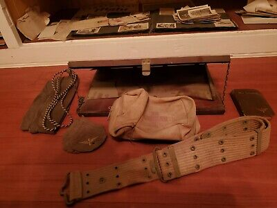 ww1 militaria Aircraft map case, belt medical bag,new testament, original photo+