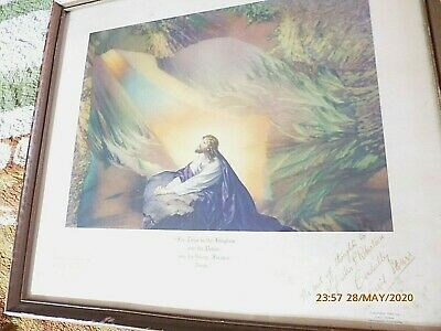 rare SIGNED AURORATONE 1943 LORD'S PRAYER sound print CECIL STOKES WW2 HOLLYWOOD