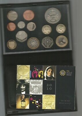 2010 Royal Mint Uk Coin Proof Set Coins British £5 £2  Uncirculated In Case