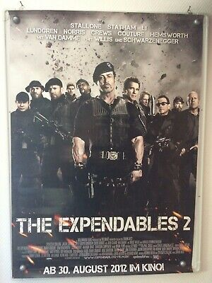Filmposter * Kinoplakat * A0 * The Expendables 2 * gerollt * 2012