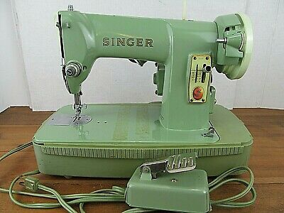 Singer 185K Sewing Machine in Carry Case Mint Green EP378884 Simanco 33681/18