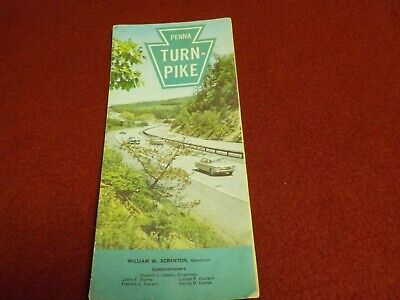 Vintage 1965 Rand McNally & Co Pa Turnpike Fare Schedule