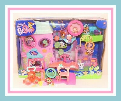 ❤️NEW Littlest Pet Shop LPS Tail Waggin' Fitness Club HOUSE Playset #682 #683❤️