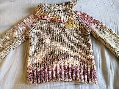 MISS SIXTY 60 girl's soft chunky wool mix  jumper AGE 6 YEARS VGC